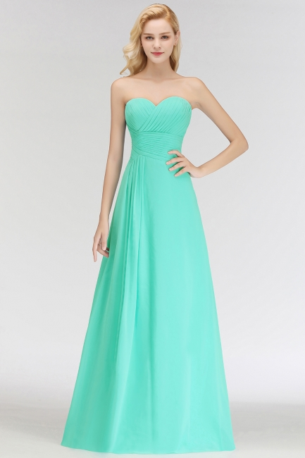 Summer Sweetheart Strapless Floor Length Ruffles Top Bridesmaid Dresses UK