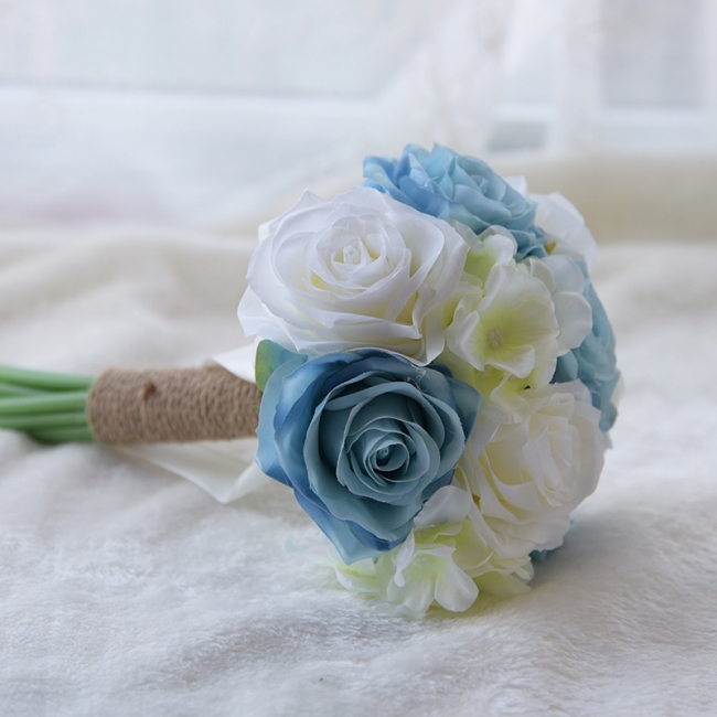 Real Touch Artificial Peony and Rose Wedding Bouquet UK