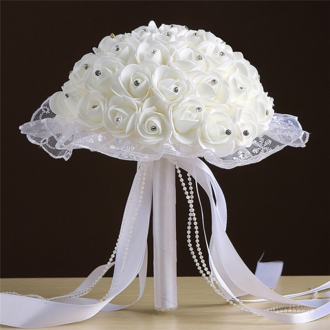 Grand Silky Rose Online Bouquet for Wedding in Multiple Colors