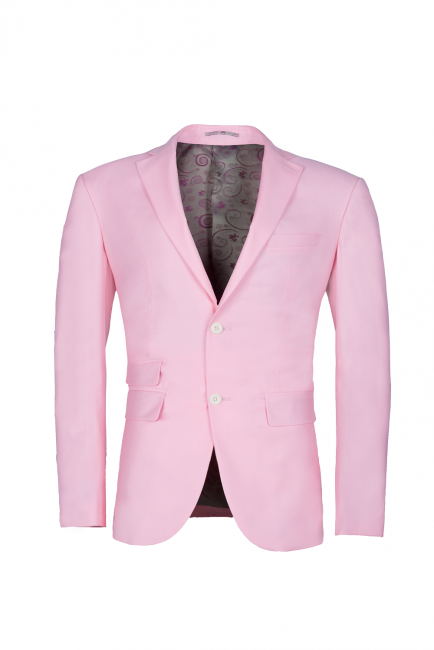 Peak Lapel Candy Pink Single Breasted UK Wedding Suit For Men