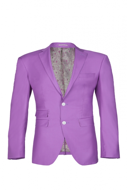 Latest Design High Quality Peak Lapel Single Breasted Two Button Lilac UK Wedding Suits