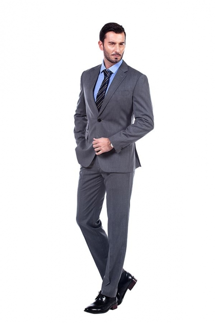 Single Breasted Notched Lapel Classic Suit | New Design 2 Pieces Two Button Slim Fit British Men Suits UK