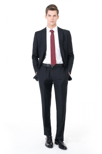 High Quality Peak Lapel Single Breasted Two Pieces Custom Made Suit UK with Pants