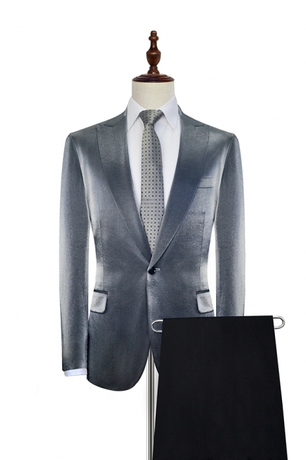Bespoke Grey Velvet Custom UK Wedding Suit For Bestman | Peak lapel Single Breasted 2 Pocket Formal British Men Suits UK