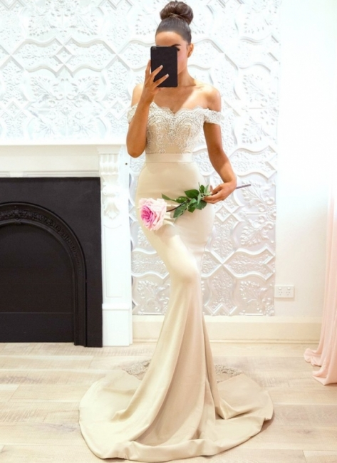 Off-the-Shoulder Bridesmaid Dresses UK | Elegant Lace Maid of the Honor Dresses