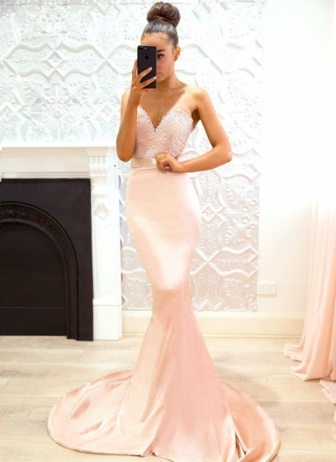 Pink Sweetheart Neck Bridesmaid Dresses UK | Sleeveless Long Maid of the Honor Dress
