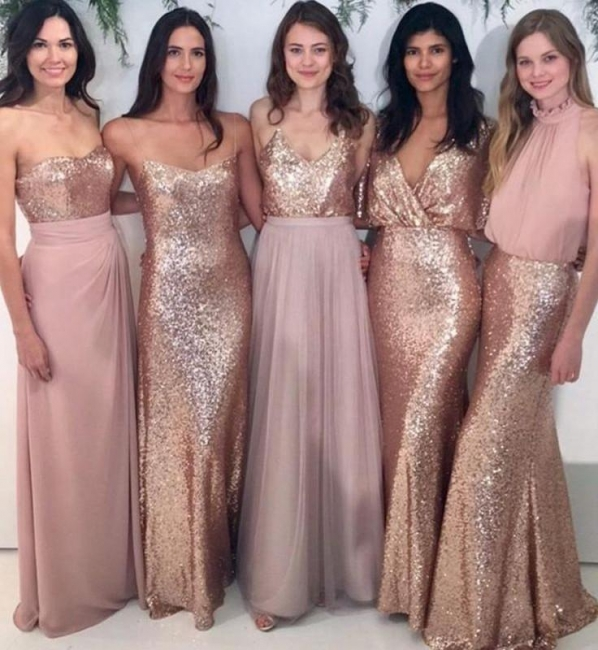 Mix & Match Bridesmaid Dress,Sequin Bridesmaid Dresses UK,Chiffon Bridesmaid Dress
