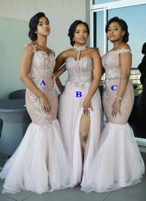 Spring Pink Tulle Bridesmaid Dresses UK | Multi Styles Wedding Party Dresses