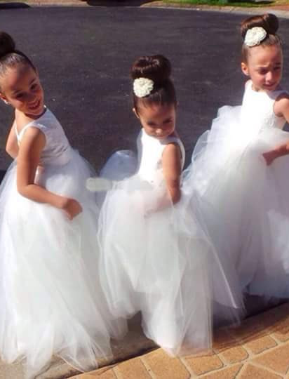 Cute Tulle Princess Jewel UK Flower Girl Dress |Long Girls Pageant Dress