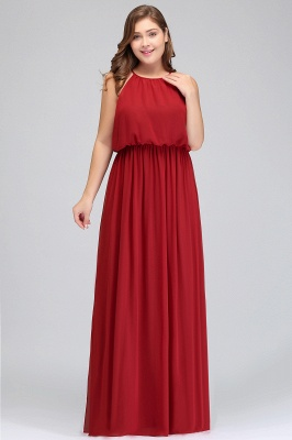 Summer Straps Floor Length Sleeveless Plus size Evening Dresses with Ruffles_8