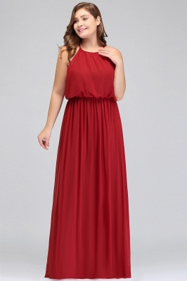 Summer Straps Floor Length Sleeveless Plus size Evening Dresses with Ruffles_5