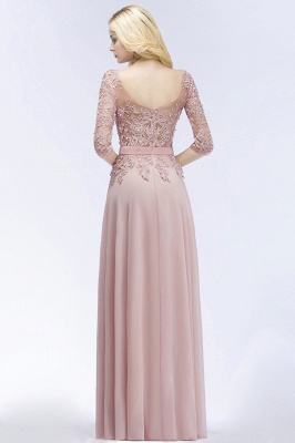 Summer Floor Length Half Sleeves Appliques Bridesmaid Dresses UK with Sash_2