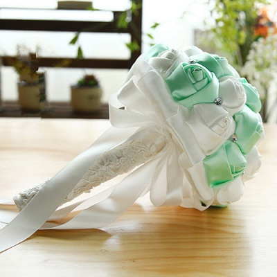 Two Colors Silky Rose Online Bouquet for Wedding_9