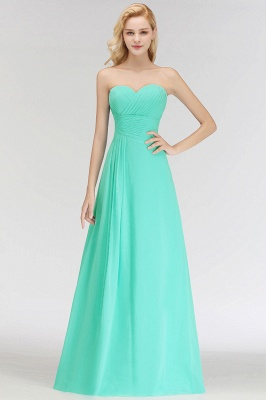Summer Sweetheart Strapless Floor Length Ruffles Top Bridesmaid Dresses UK_1