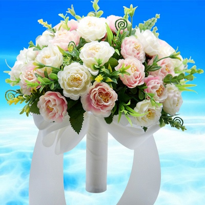 Artificial Rose Wedding Bouquet UK in Two Colors_2
