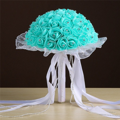 Grand Silky Rose Online Bouquet for Wedding in Multiple Colors_6
