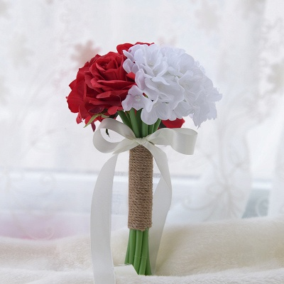 Real Touch Artificial Peony and Rose Wedding Bouquet UK_3