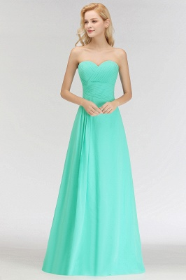 Summer Sweetheart Strapless Floor Length Ruffles Top Bridesmaid Dresses UK_7
