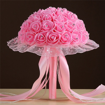 Grand Silky Rose Online Bouquet for Wedding in Multiple Colors_2
