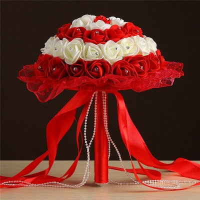 Grand Silky Rose Online Bouquet for Wedding in Multiple Colors_4