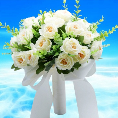 Artificial Rose Wedding Bouquet UK in Two Colors_1