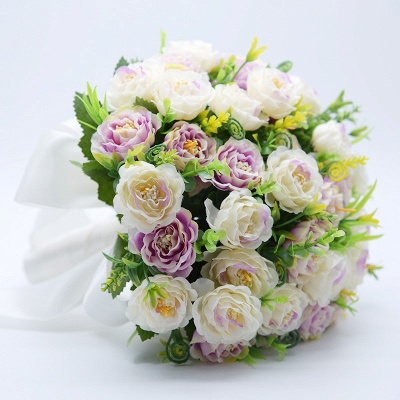 Artificial Rose Wedding Bouquet UK in Two Colors_7