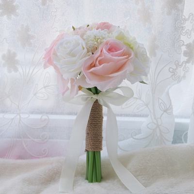 Real Touch Artificial Peony and Rose Wedding Bouquet UK_6
