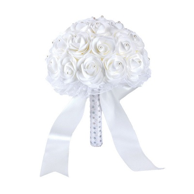 Colorful Rose Beading Online Bouquet for Wedding