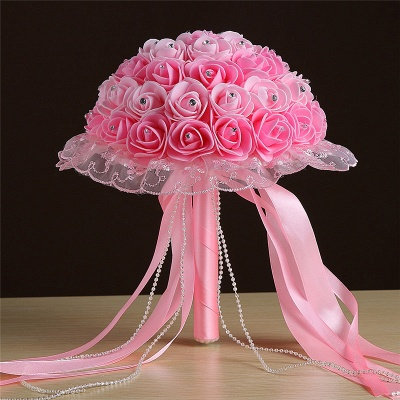 Grand Silky Rose Online Bouquet for Wedding in Multiple Colors_3