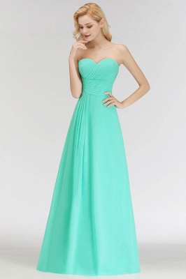 Summer Sweetheart Strapless Floor Length Ruffles Top Bridesmaid Dresses UK_8