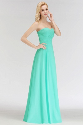 Summer Sweetheart Strapless Floor Length Ruffles Top Bridesmaid Dresses UK_6