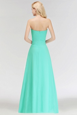 Summer Sweetheart Strapless Floor Length Ruffles Top Bridesmaid Dresses UK_3