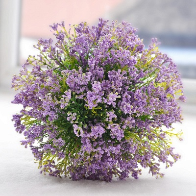 Elegant Real Touch Artificial Lavender Wedding Bouquet UK_4