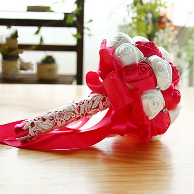Two Colors Silky Rose Online Bouquet for Wedding_3