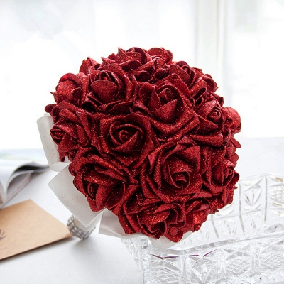 Sparkle Multiple Colors Rose Wedding Bouquet UK