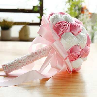 Two Colors Silky Rose Online Bouquet for Wedding_2