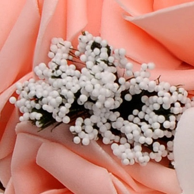 Two Colors Silk Flowers Wedding Bouquet UK with Ribbon_9