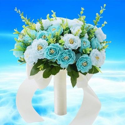 Artificial Rose Wedding Bouquet UK in Two Colors_4