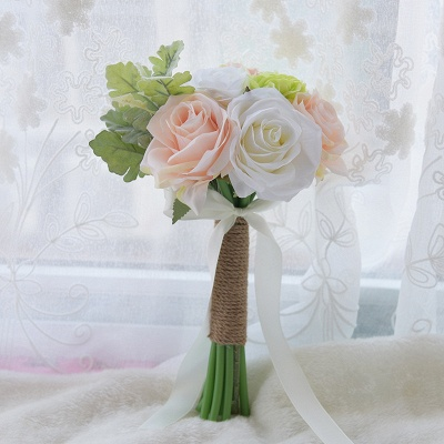 Real Touch Artificial Peony and Rose Wedding Bouquet UK_1
