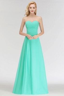 Summer Sweetheart Strapless Floor Length Ruffles Top Bridesmaid Dresses UK_5