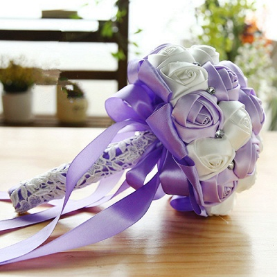 Two Colors Silky Rose Online Bouquet for Wedding_7