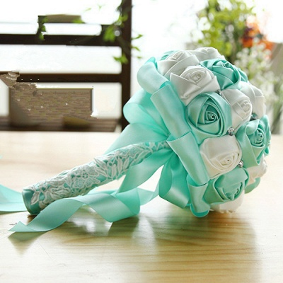 Two Colors Silky Rose Online Bouquet for Wedding_10