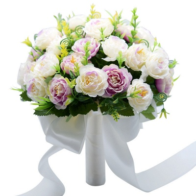 Artificial Rose Wedding Bouquet UK in Two Colors_9