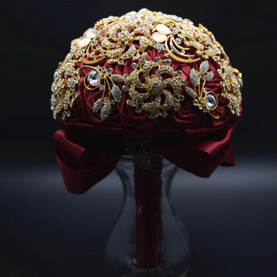 Luxury Crystal Beading Rose Online Bouquet for Wedding_8