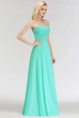 Summer Sweetheart Strapless Floor Length Ruffles Top Bridesmaid Dresses UK_4