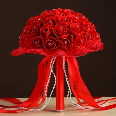 Grand Silky Rose Online Bouquet for Wedding in Multiple Colors_5
