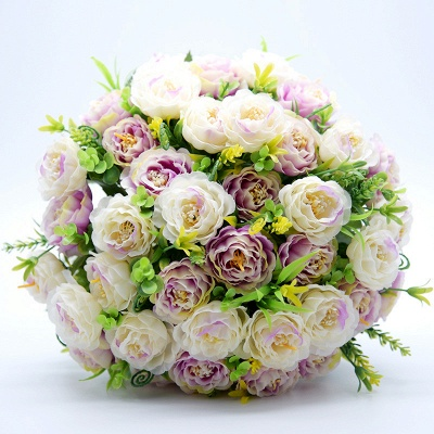 Artificial Rose Wedding Bouquet UK in Two Colors_6