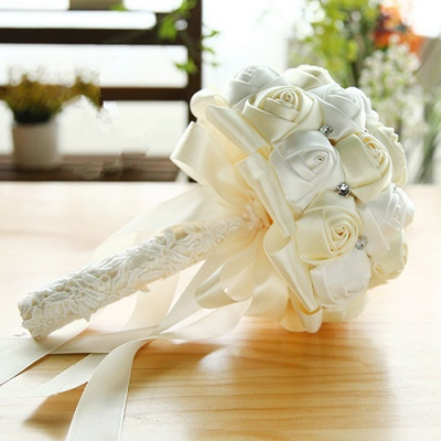 Two Colors Silky Rose Online Bouquet for Wedding