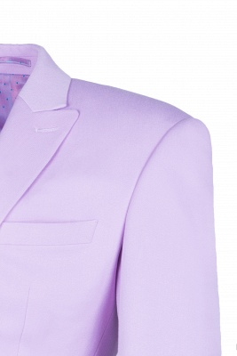 Bespoke Peak Lapel High Quality Two Button Lavender Casual Suit UK_4