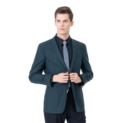 Customize Lattice Two-piece Suit Peak Lapel Single Breasted Career Suits UK_3